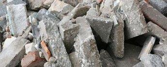 Puin en stenen afval