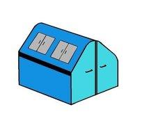 afvalcontainer huren 10 m3 dak afval (gesloten)