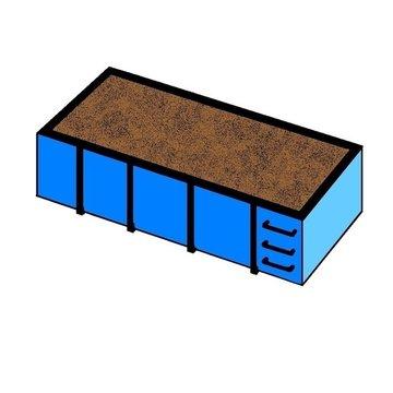 16 m3 straatzand in container
